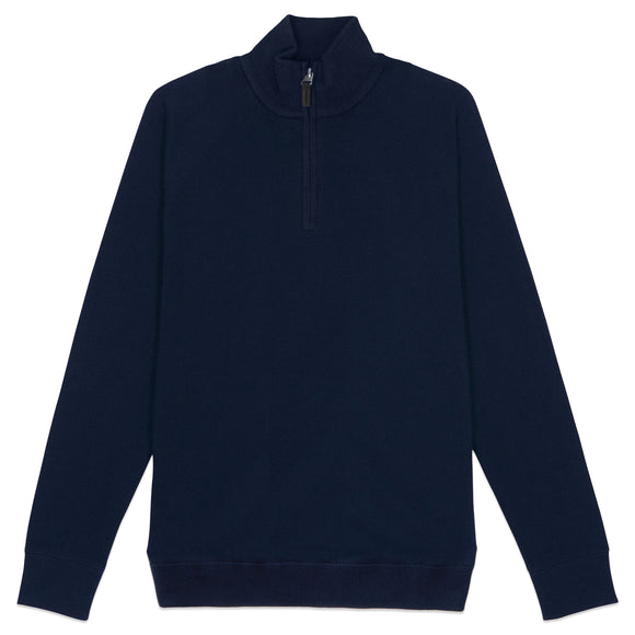 Superdry Orange Label Cotton Henley - Classic Navy