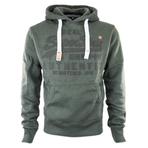 Superdry Authentic Tonal Hood - Charcoal Black Grit