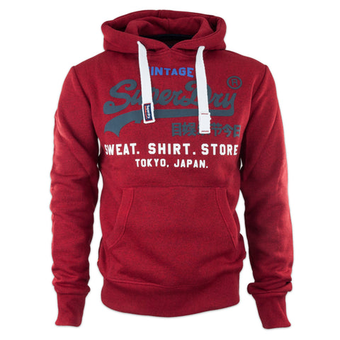 Superdry Tri Colour Store Hood - Red Hook Grit
