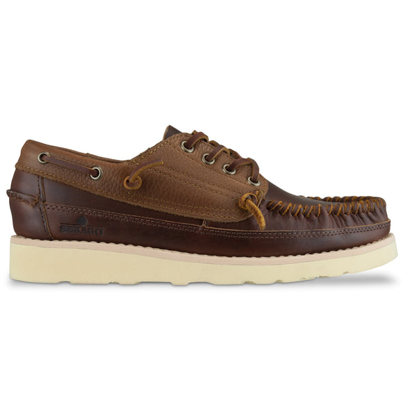 Sebago Campsides Seneca Leather Moccasin Shoes - Brown Cinnamon