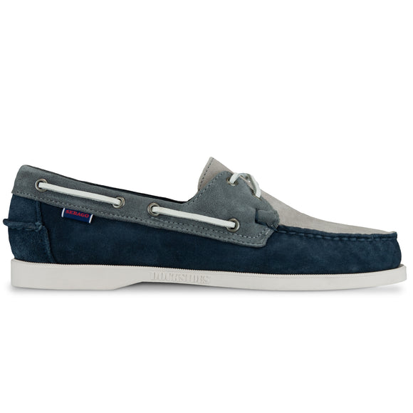 Sebago Docksides Portland Jib Shoes - Navy/Grey