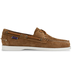 Sebago Docksides Portland Suede Shoes - Brown Cognac