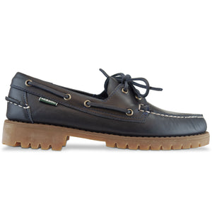 Sebago Ranger Waxy Lug Moc Shoes - Navy