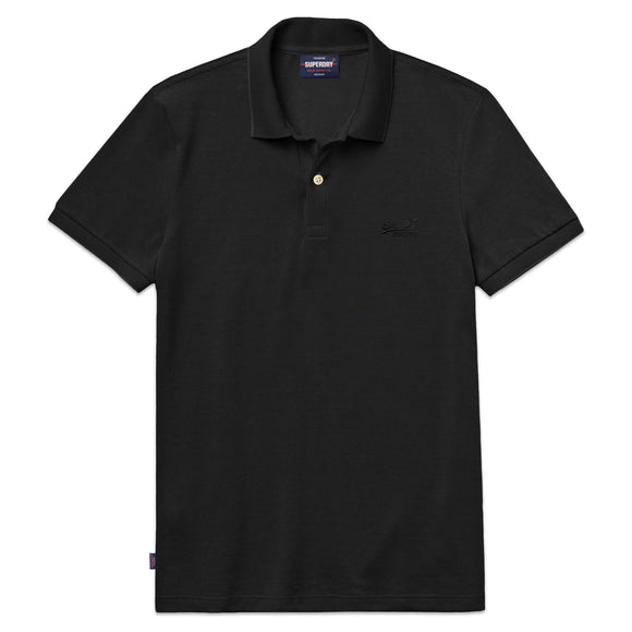 Superdry Classic Micro Lite Pique Polo - Black