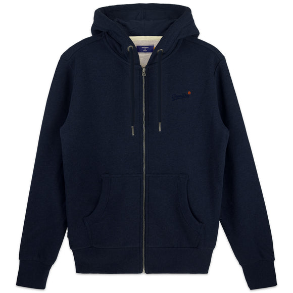 Superdry Orange Label Classic Zip Hood - Rich Navy