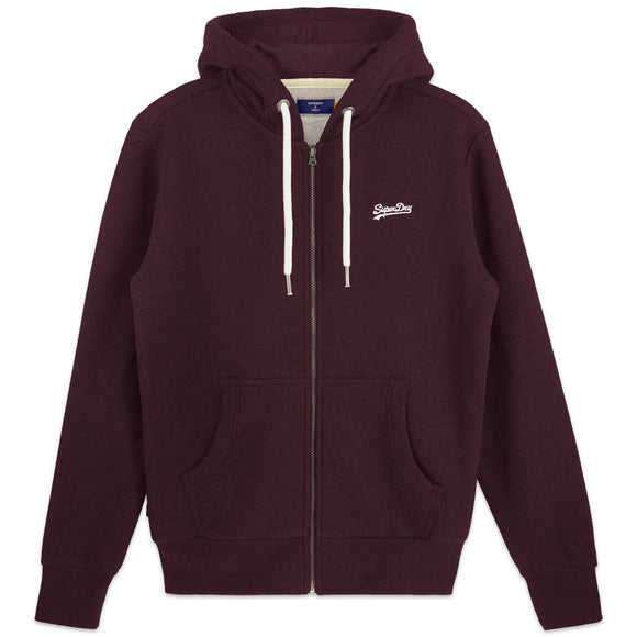 Superdry Orange Label Classic Zip Hood - Blackberry Marl