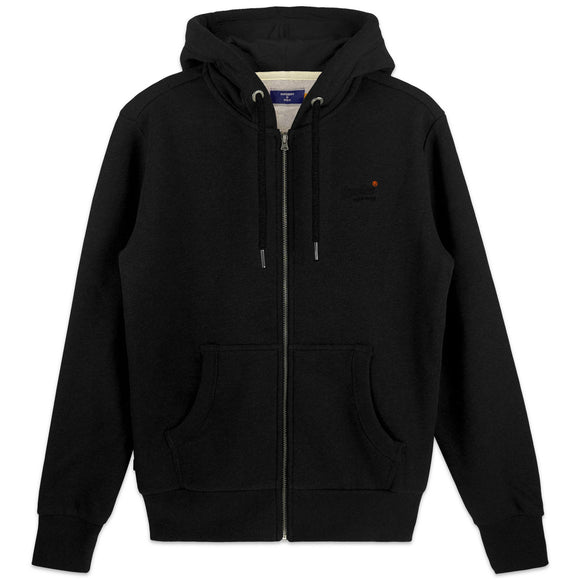Superdry Orange Label Classic Zip Hood - Black