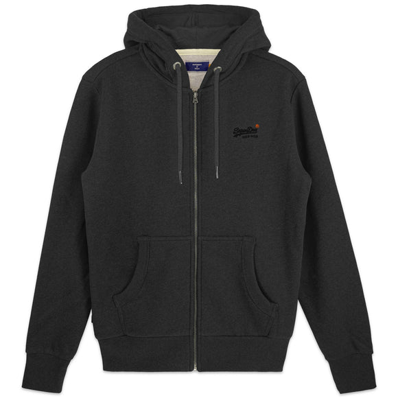 Superdry Orange Label Classic Zip Hood - Dark Marl