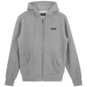 Superdry Orange Label Classic Zip Hood - Grey Marl