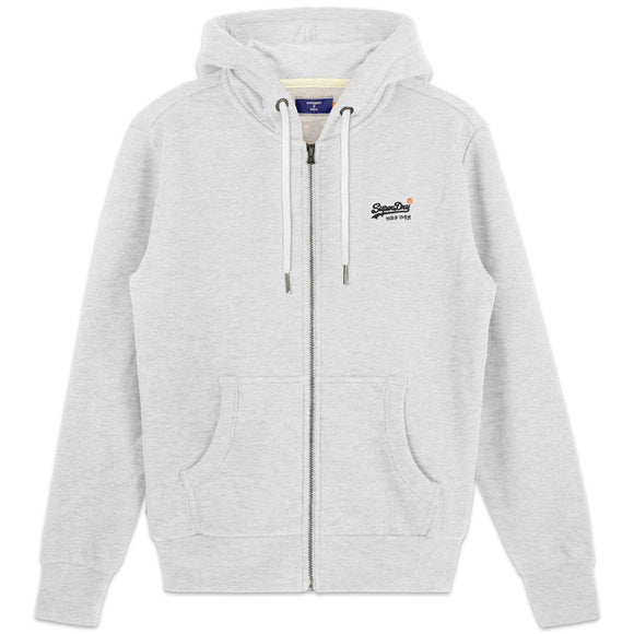 Superdry Orange Label Classic Zip Hood - Ice Marl