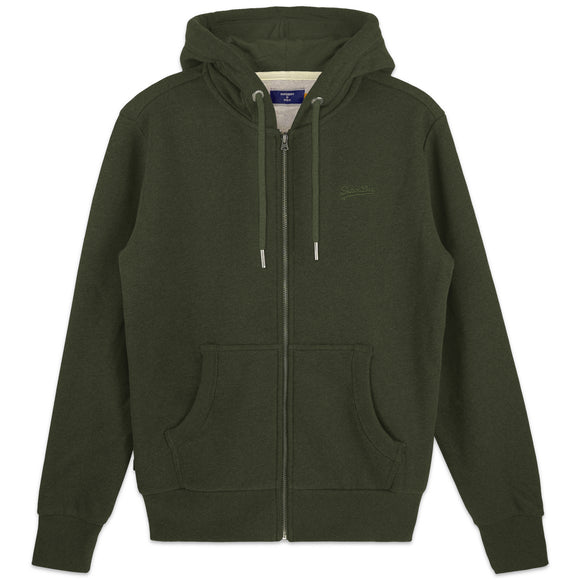 Superdry Orange Label Classic Zip Hood - Winter Khaki