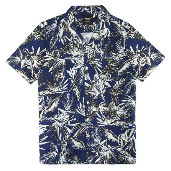 Superdry Cabana SS Shirt - Blue Palm