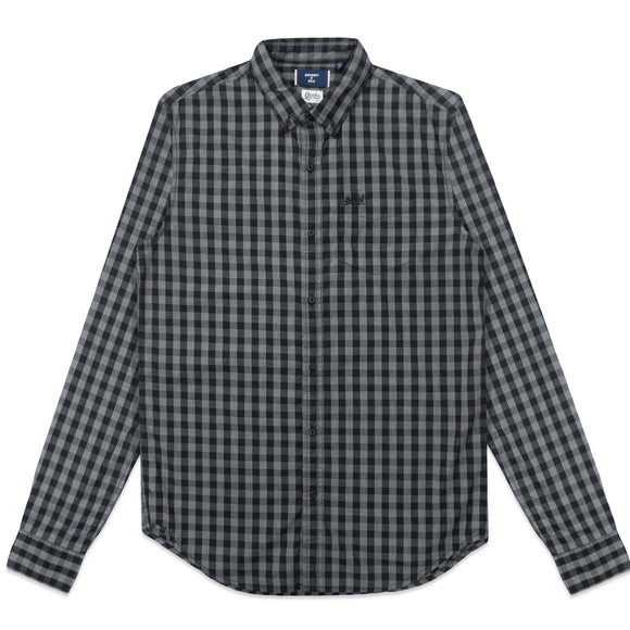 Superdry Classic London Button Down Shirt - Onyx Marl Gingham