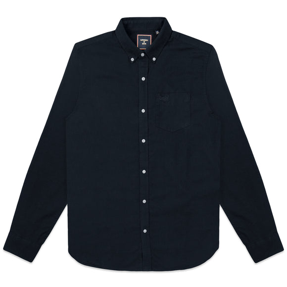 Superdry Classic University Oxford Shirt - Nordic Chrome Navy