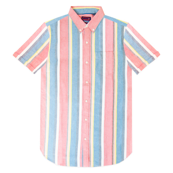 Superdry East Coast Oxford SS Shirt - Red Stripe