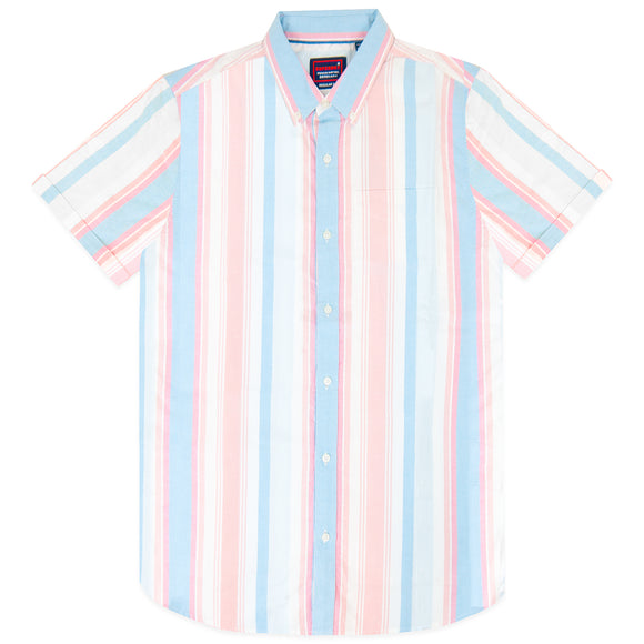 Superdry East Coast Oxford SS Shirt - Deck Stripe