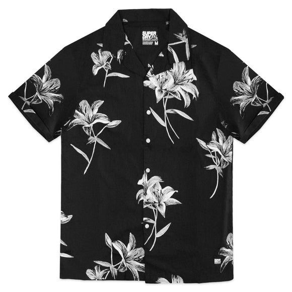 Superdry Hawaiian Box Short Sleeve Shirt - Black