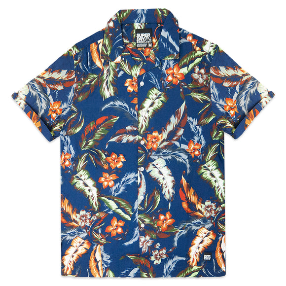 Superdry Hawaiian Box Short Sleeve Shirt - Navy