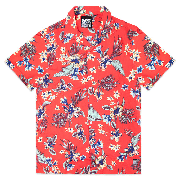 Superdry Hawaiian Box Short Sleeve Shirt - Red