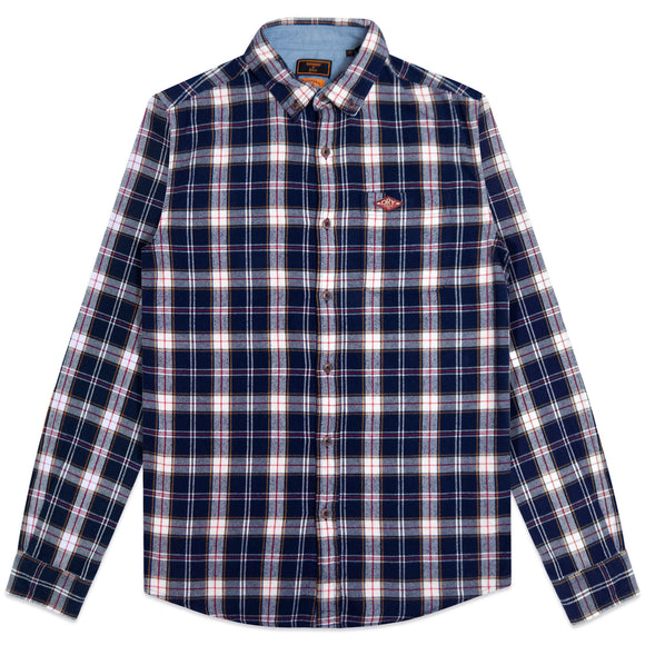 Superdry Heritage Lumberjack Shirt - Navy Check