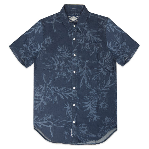 Superdry Miami Loom SS Shirt - Indigo