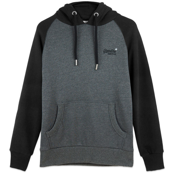 Superdry Orange Label Classic Raglan Hood - Low Light Black Grit