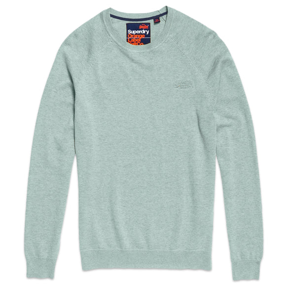 Superdry Orange Label Cotton Crew - Fresh Mint