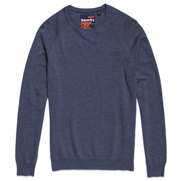 Superdry Orange Label Cotton Crew - Reefer Blue