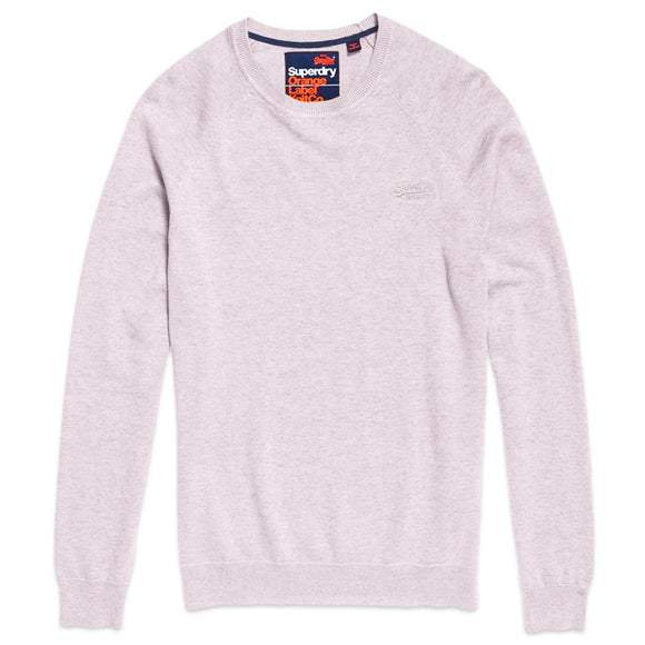 Superdry Orange Label Cotton Crew - Silver Pink