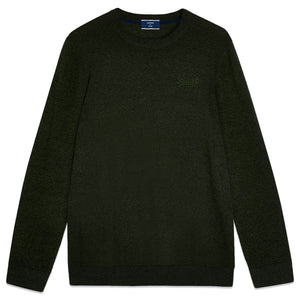 Superdry Orange Label Crew Knit - Black Cyprus Marl