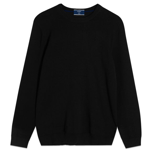 Superdry Orange Label Crew Knit -Black