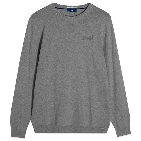 Superdry Orange Label Crew Knit - Jersey Grey Marl