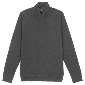 Superdry Orange Label 1/4 Zip Henley - Grey Marl