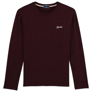 Superdry Orange Label Vintage Embroidery Long Sleeve T-Shirt - Burgundy
