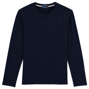 Superdry Orange Label Vintage Embroidery Long Sleeve T-Shirt - Rich Navy