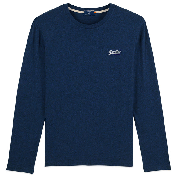 Superdry Orange Label Vintage Embroidery Long Sleeve T-Shirt - Midnight Navy