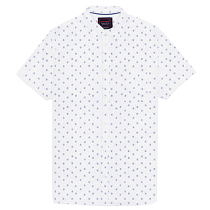 Superdry Short Sleeve Classic Seersucker Shirt - White AOP