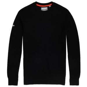 Superdry Academy Crew Knit - Black