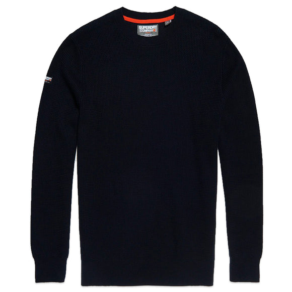 Superdry Academy Crew Knit - Deep Navy