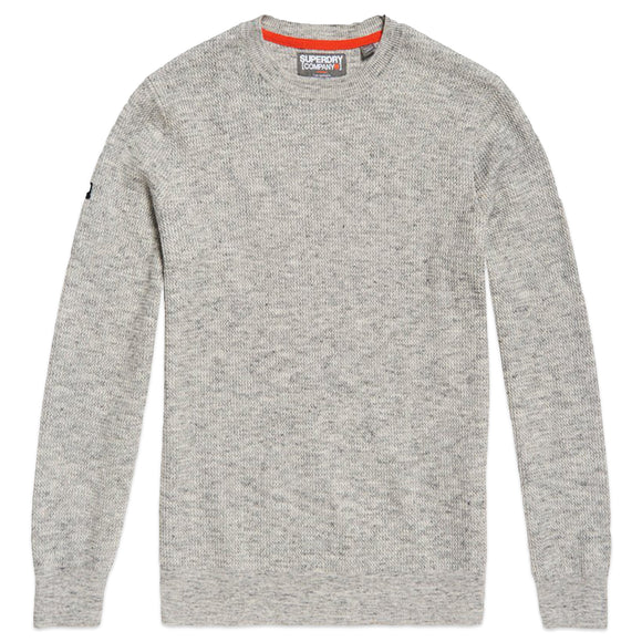 Superdry Academy Crew Knit - Stone