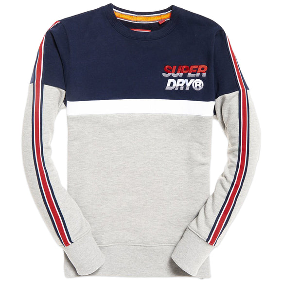 Superdry Applique Oversized Nu Lad Crew Sweat - True Royal Navy