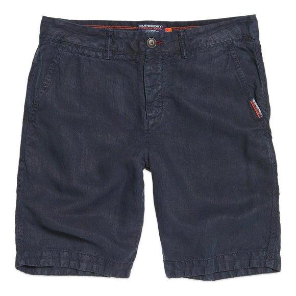 Superdry International Linen Chino Shorts - Graphite Navy