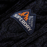 Superdry Jacob Crew Knit - Navy/Black Twist