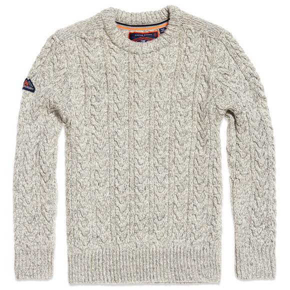 Superdry Jacob Crew Knit - Concrete Twist