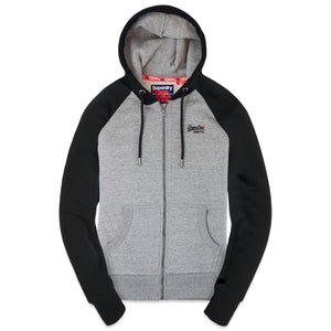 Superdry OL Classic Raglan Zip Hood - Collective Dark Grey Grit