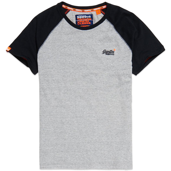Superdry Orange Label Baseball T-Shirt - Pumice Stone