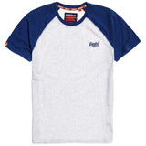 Superdry Orange Label Baseball T-Shirt - Ice Marl
