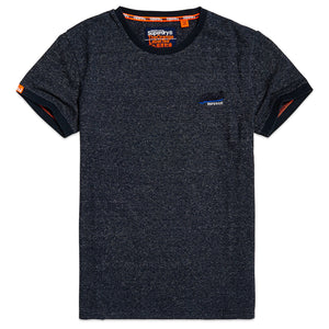 Superdry OL Cali Ringer T-Shirt - Navy Injection Texture