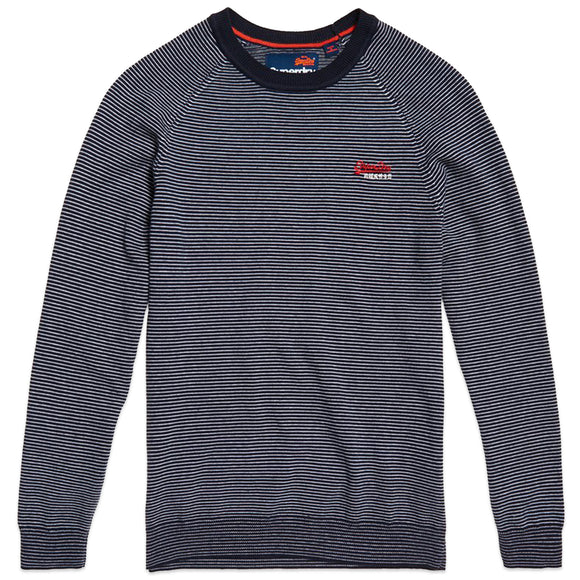 Superdry Orange Label Cotton Crew Jumper - Mariner Feeder
