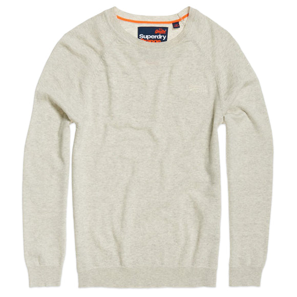 Superdry Orange Label Cotton Crew Knit - Nordich Oatmeal Grit